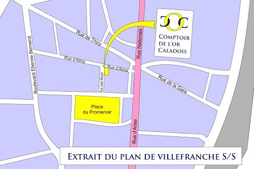 Comptoir de l'or Caladois plan d'accès 1