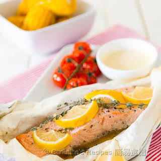Baked Salmon Parcel.
