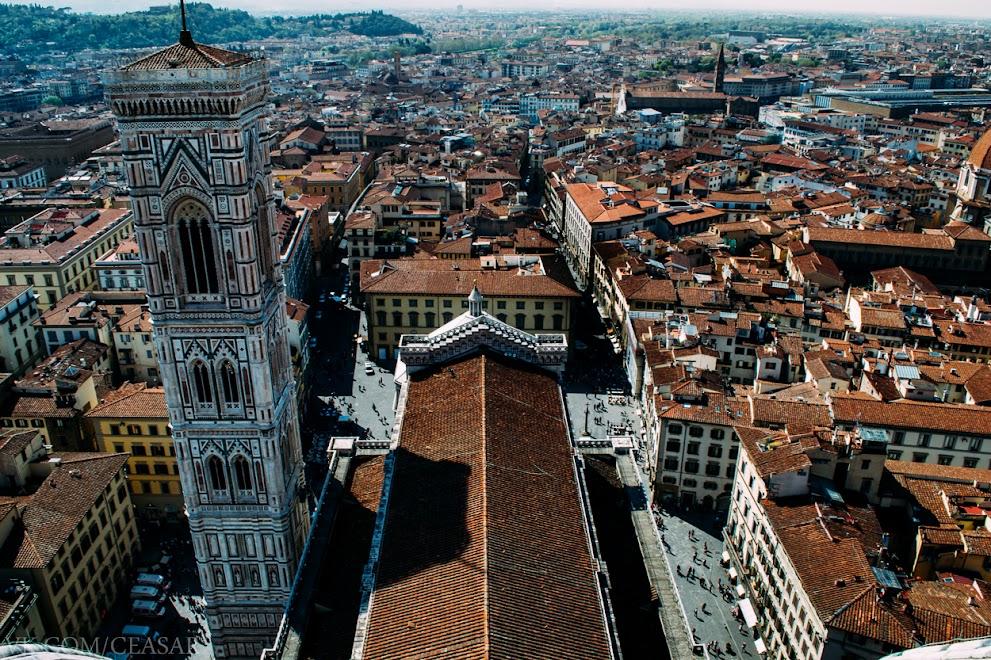 Флоренция с купола Санта-Мария-дель-Фьоре