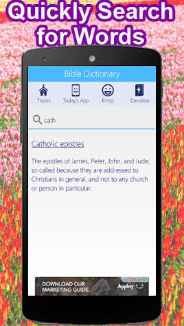 Bible Dictionary & Caller ID Screen Screenshot