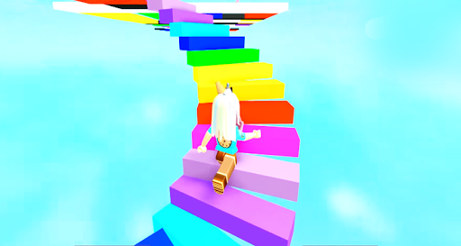 Download Jumping Into Rainbows Random Game Play Obby Guide For PC 1