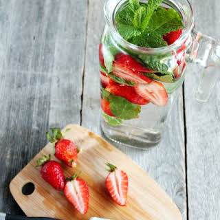 Strawberry Mint Infused Detox Water.