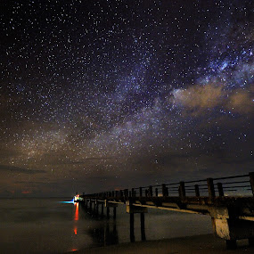 While The Sun Was Sleeping by Bob Shahrul - Landscapes Starscapes ( milkyway, star, terengganu, night, beach, kemamang )