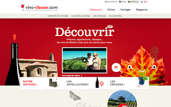 Photo: Site of the Day 18 January 2013 http://www.awwwards.com/web-design-awards/discover-rhone-wines-1