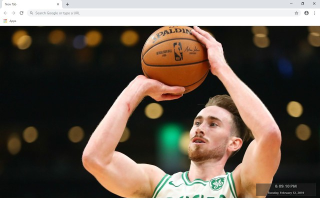 Gordon Hayward New Tab Theme