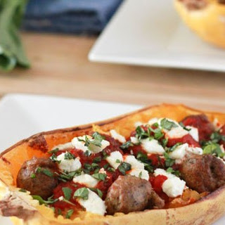 Baked Spaghetti Squash and Meatballs