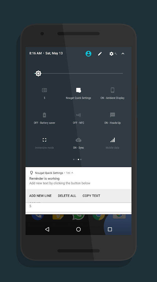 Nougat Quick Settings- screenshot