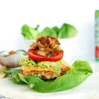 Jalapeno Avocado Chicken Burgers.
