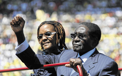 Robert Mugabe and his wife Grace. File photo