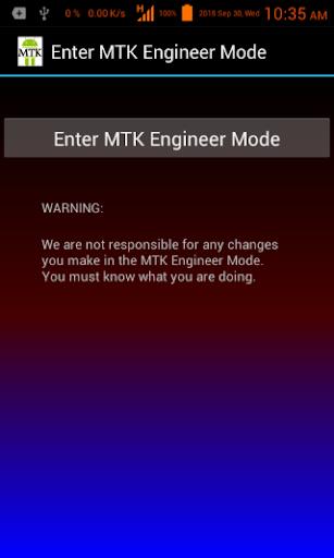 Enter MTK Engineer Mode