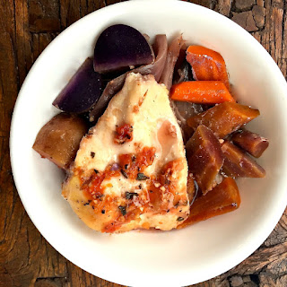 Slow Cooker Chicken Breasts with Carrots and Potatoes Recipe