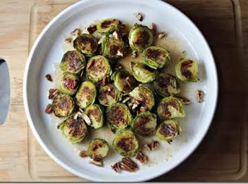 Brown Butter & Maple Brussels Sprouts With Pecans
