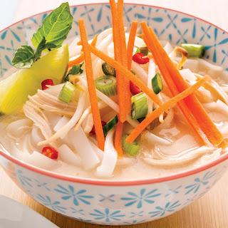 Vietnamese-Style Lemongrass Chicken Noodle Soup.
