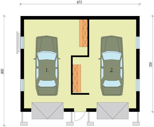G11a - Rzut garażu