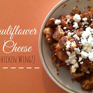 BBQ Cauliflower with Goat Cheese (the Vegetarian Chicken Wing)