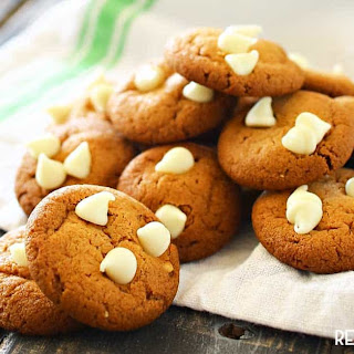 Peanut Butter & White Chocolate Chip Cookies.
