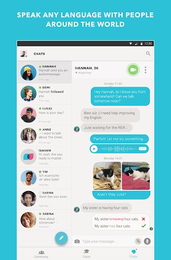 Tandem Language Exchange: Speak any language 1.7.7 screenshots 11