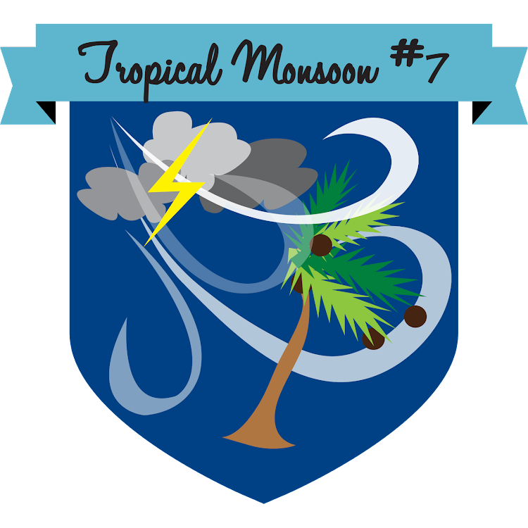 Logo of Button Tropical Monsoon #7