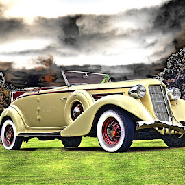 Auburn II by JEFFREY LORBER - Transportation Automobiles ( rust 'n chrome, auburn, cabriolet, convertible, classic car, lorberphoto, concours )