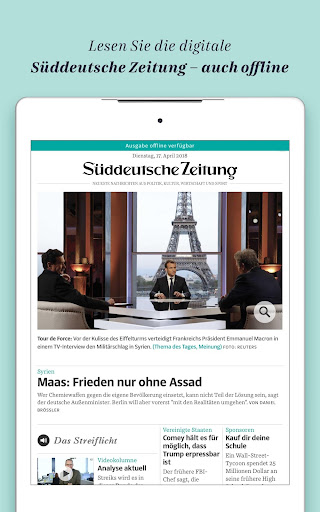 Süddeutsche Zeitung Zeitungsapp 4.1 screenshots 8