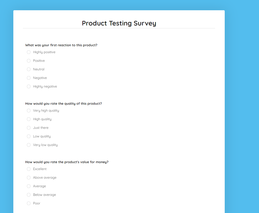 product-testing-survey