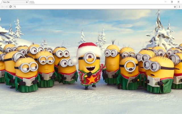Christmas Santa Minion Pics & New Tab