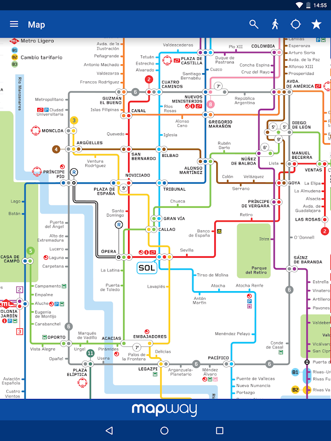 Madrid Metro Map and Routes- screenshot