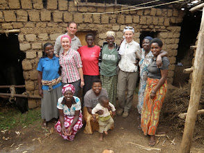 Photo: In a village with our hosts;)