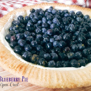 Blueberry Pie with Fresh Berries