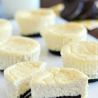 Lighter Mini Cheesecakes with Oreo Crust Recipe