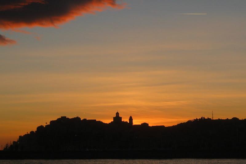 tramonto sulla skyline di malte