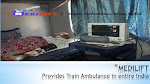 Safe and Comfortable Relocation by Medilift Train Ambulance Service in India