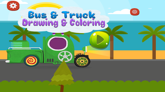 Bus truck drawing coloring apps on google play for Truck design app