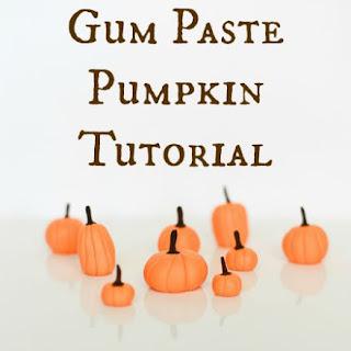 Easy Gum Paste Pumpkin Fall Cupcake Topper
