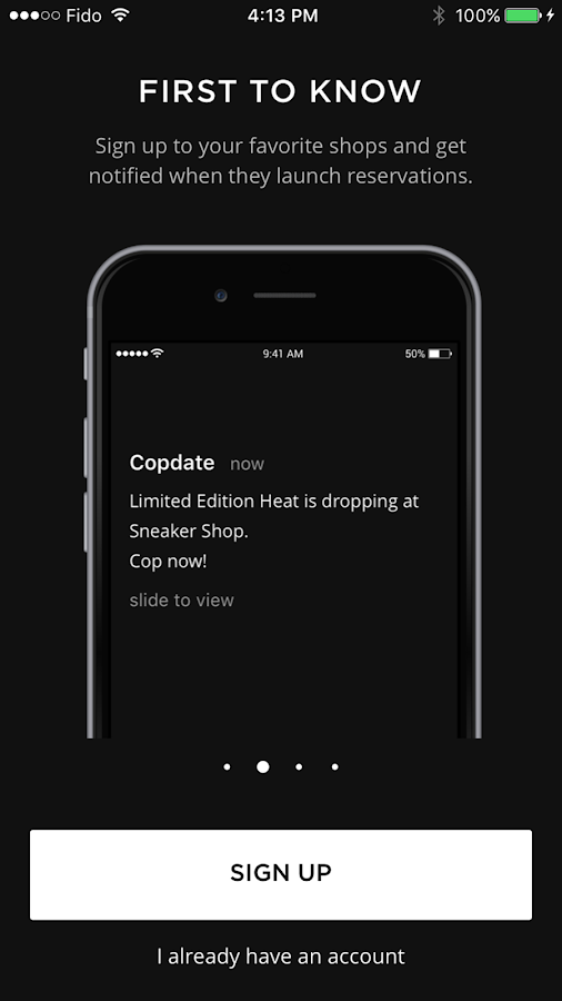 Copdate- screenshot