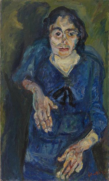 Хаим Сутин. Портрет женщины в голубом.