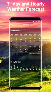 Daily weather forecast widget☂- screenshot thumbnail