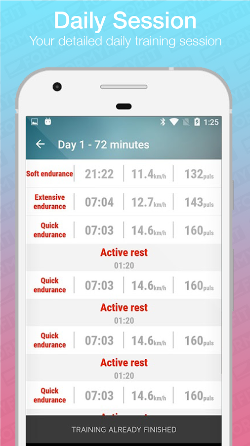 Formyfit Personalised Running Workout Plan & Coach- screenshot