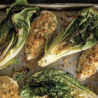 Parmesan Chicken with Caesar Roasted Romaine Recipe