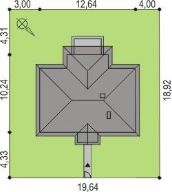 Domek Kaszubski szkielet drewniany 014 SOK - Sytuacja