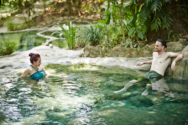 Relax in hot mineral water at Private Wareerak Spa