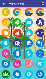Win Circle - Icon Pack Screenshot