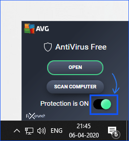 Disable Antivirus Software