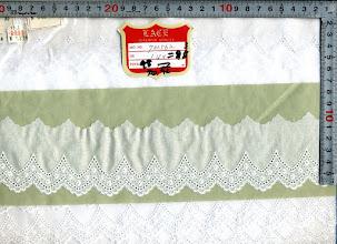 Photo: №733562-302オフ綿レース:巾60mm