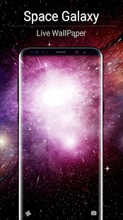 Space Galaxy Live Wallpaper - náhled
