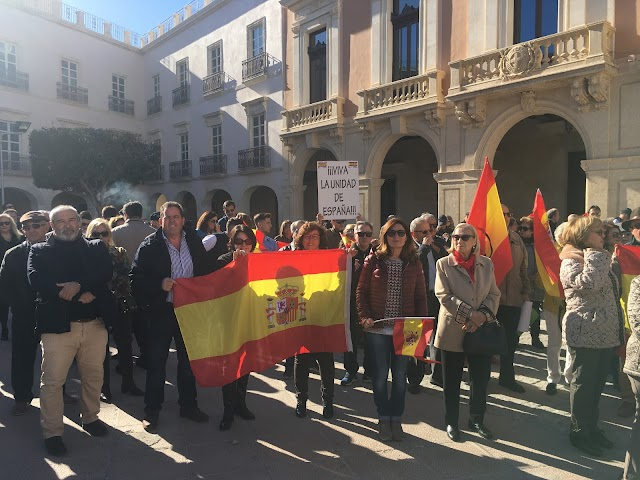 Pancarta de \'¡Viva la unidad de España!.