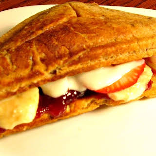 PB&J Pancake Breakfast Sandwich.