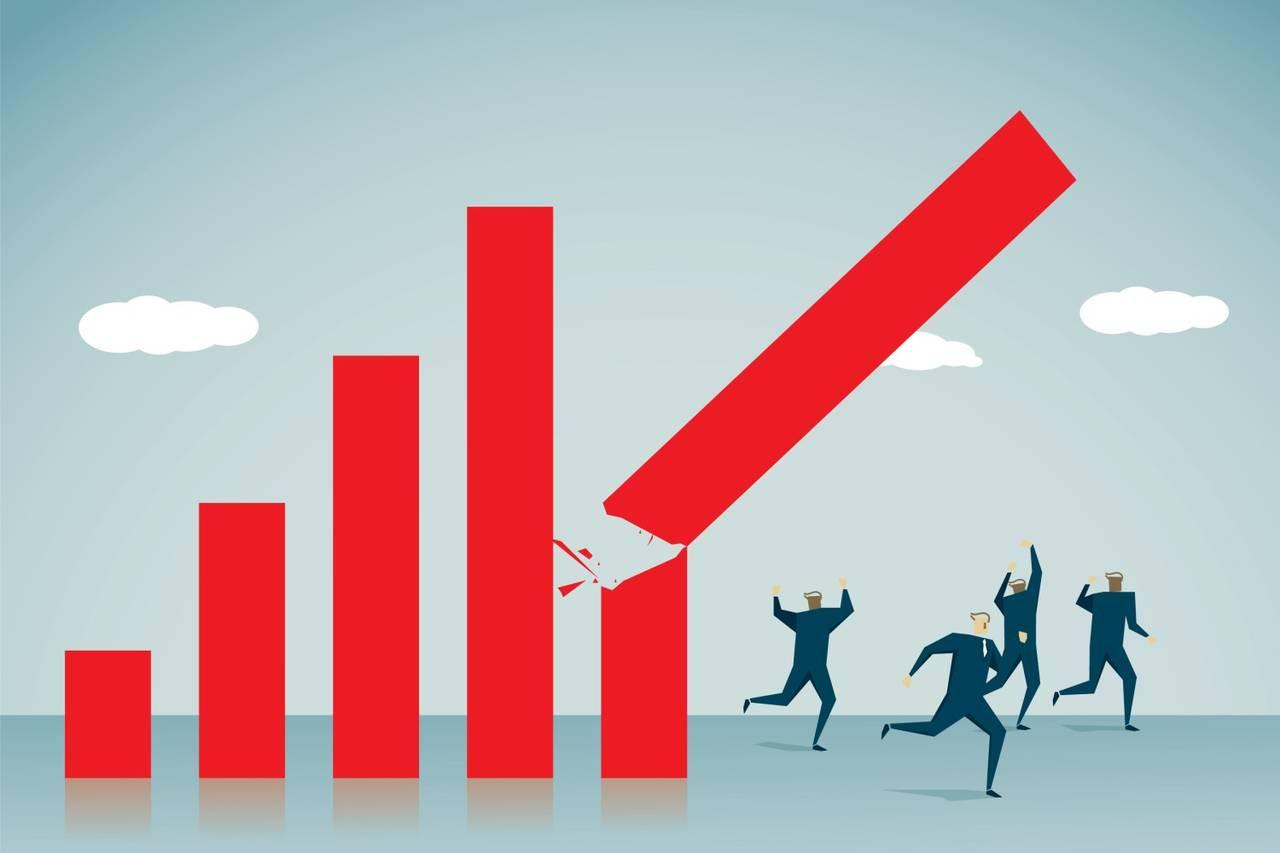 Kinh tế sụt giảm nặng nề khi gặp khủng hoảng.