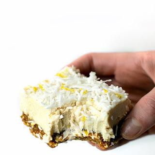 Raw Lemon Coconut Cheesecake Bars.