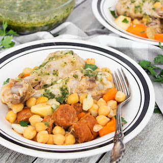 Cocido - Spanish Chicken and Chickpea Stew.